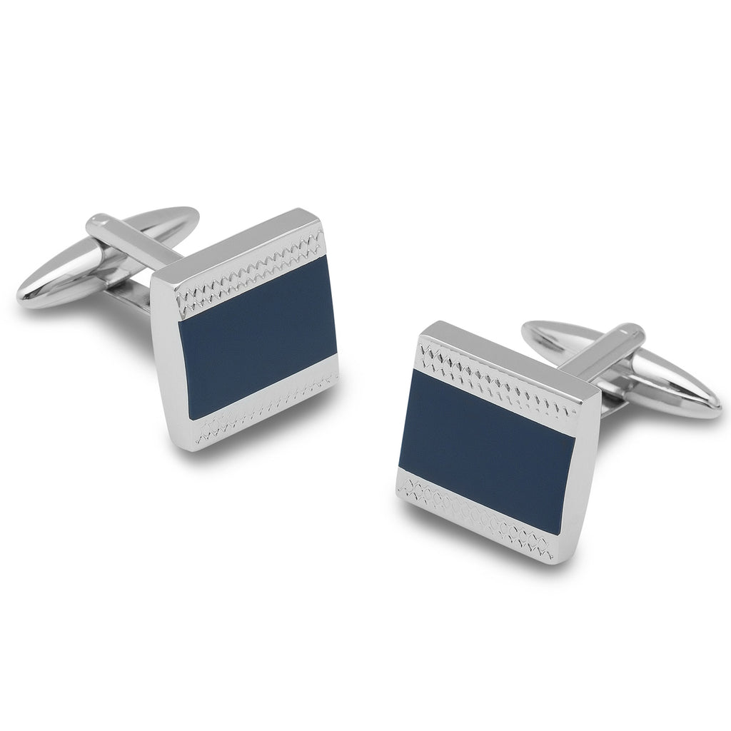 Peter the Great Blue Square Cufflinks