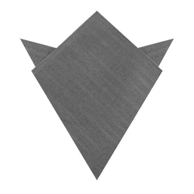 Pewter Grey Linen Pocket Square