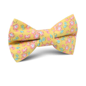 Phi Phi Yellow Floral Kids Bow Tie