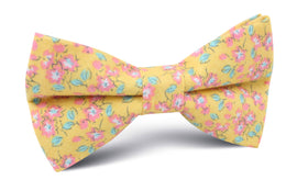 Phi Phi Yellow Floral Bow Tie