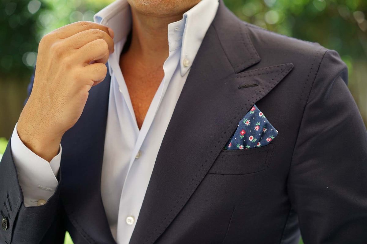 Philadelphia Floral Pocket Square