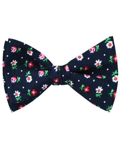 Philadelphia Floral Self Bow Tie