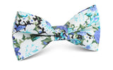 Pianosa Purple Floral Bow Tie