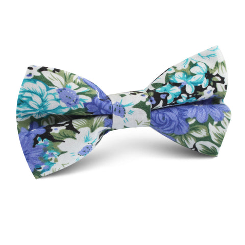 Pianosa Purple Floral Kids Bow Tie