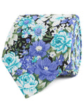Pianosa Purple Floral Necktie