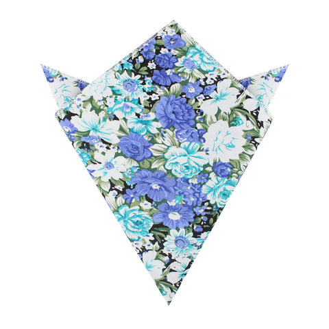 Pianosa Purple Floral Pocket Square