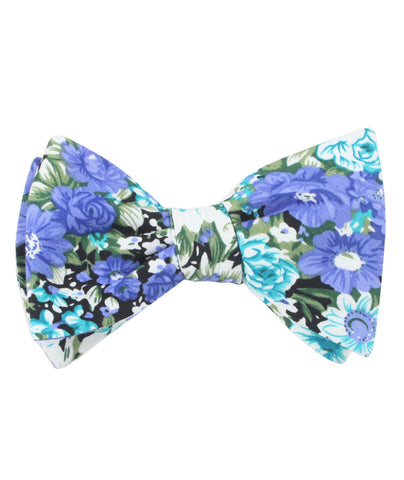 Pianosa Purple Floral Self Bow Tie