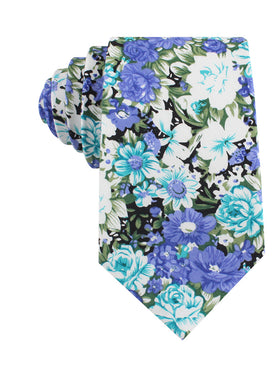 Pianosa Purple Floral Tie