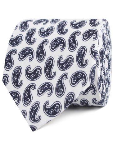 Picasso White on Blue Paisley Tie