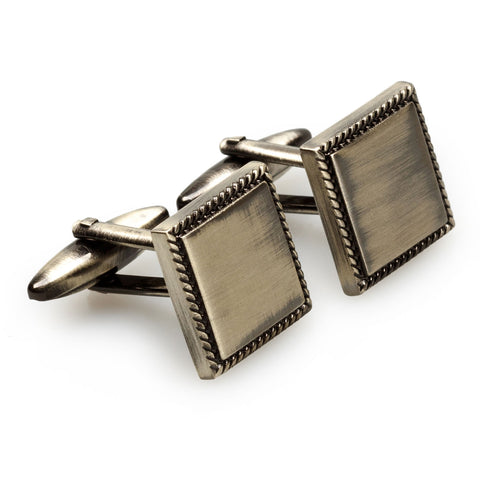 Piero della Francesca Antique Silver Cufflinks
