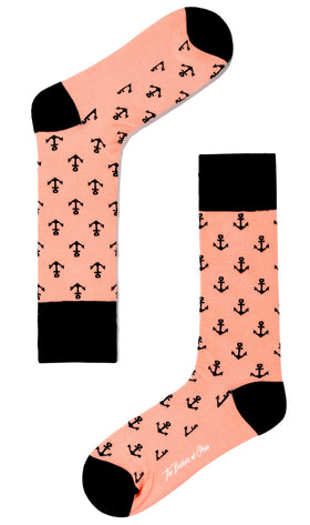 Pink Anchor Socks