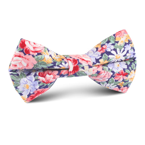 Pink Chrysanthemum Floral Kids Bow Tie