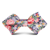 Pink Chrysanthemum Floral Kids Diamond Bow Tie