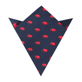 Pink Elephant Pocket Square