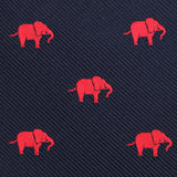 Pink Elephant Pocket Square Fabric