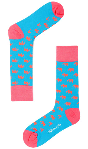 Pink Elephant Socks