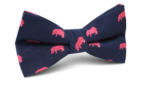Pink Hippo Bow Tie