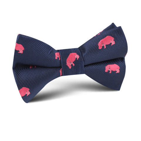 Pink Hippo Kids Bow Tie
