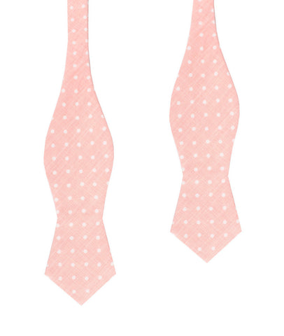 Pink Panther Polkadot Diamond Self Bow Tie