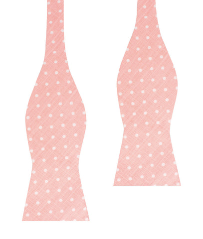 Pink Panther Polkadot Self Bow Tie