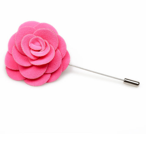 Pink Panther Velvet Lapel Flower