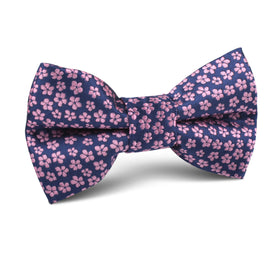 Pink Plum Blossom Floral Kids Bow Tie