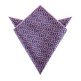 Pink Plum Blossom Floral Pocket Square