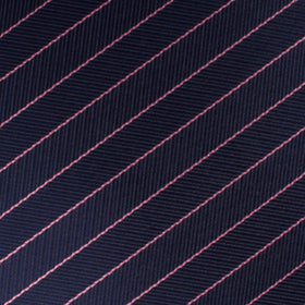 Pink Striped Navy Blue Herringbone Bow Tie