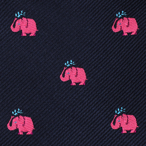 Pink Water Elephant Pocket Square