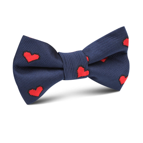 Pixel Love Heart Kids Bow Tie