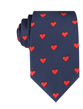Pixel Love Heart Necktie