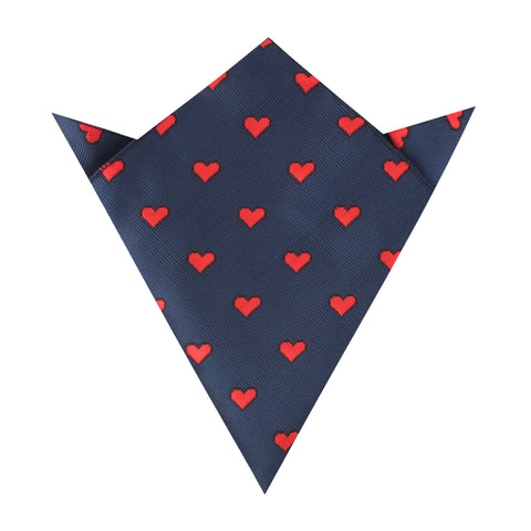 Pixel Love Heart Pocket Square