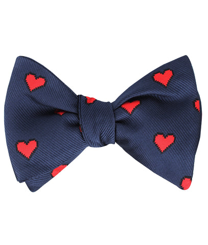 Pixel Love Heart Self Bow Tie