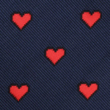 Pixel Love Heart Skinny Tie Fabric