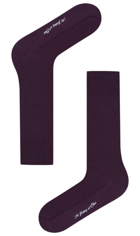 Plum Purple Textured Socks