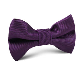 Plum Purple Weave Kids Bow Tie