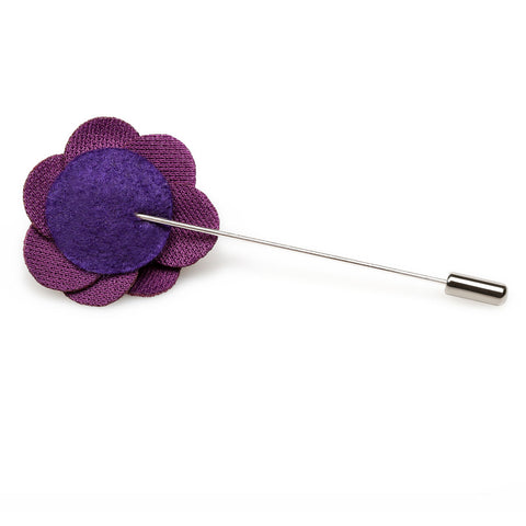 Plum Purple Mini Velvet Lapel Pin