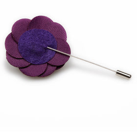 Plum Purple Velvet Lapel Flower