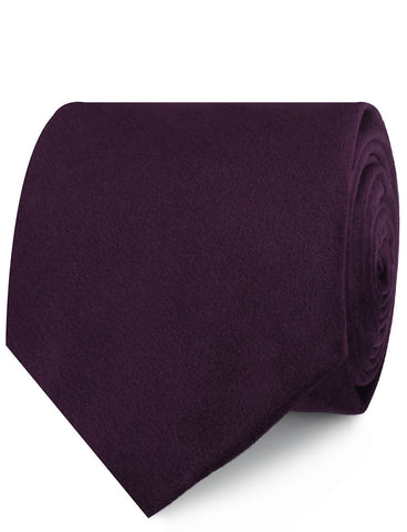 Plum Purple Velvet Necktie
