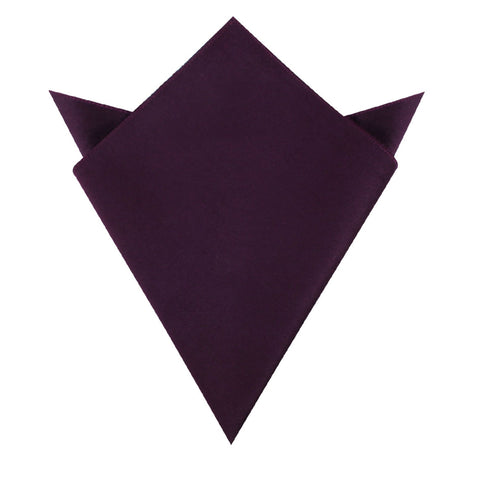 Plum Purple Velvet Pocket Square
