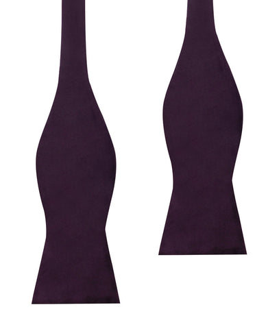 Plum Purple Velvet Self Bow Tie