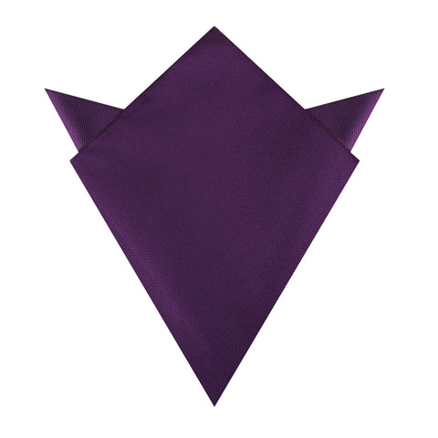 Plum Purple Weave Pocket Square