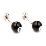 Pool Eight Ball Cufflinks Front OTAA