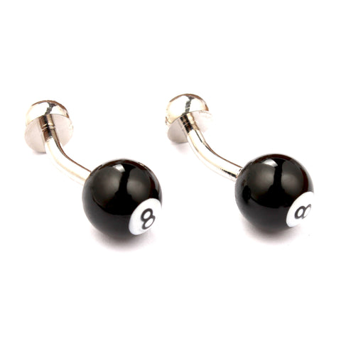 Pool Eight Ball Cufflinks