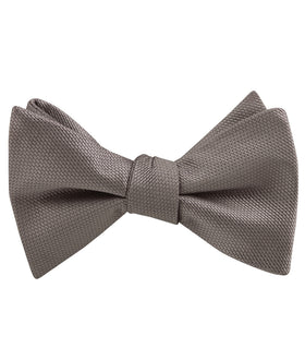 Portobello Beige Weave Self Bow Tie