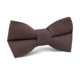 Portobello Grey Brown Linen Kids Bow Tie