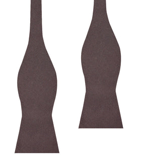 Portobello Grey Brown Linen Self Bow Tie