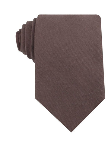 Portobello Grey Brown Linen Necktie