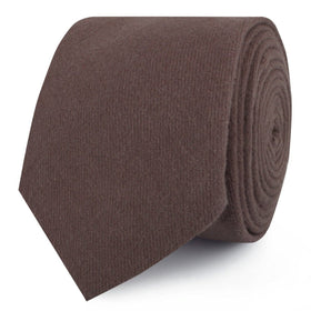 Portobello Grey Brown Linen Skinny Tie