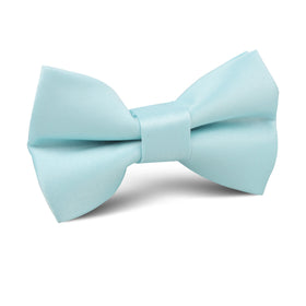 Powder Blue Satin Kids Bow Tie